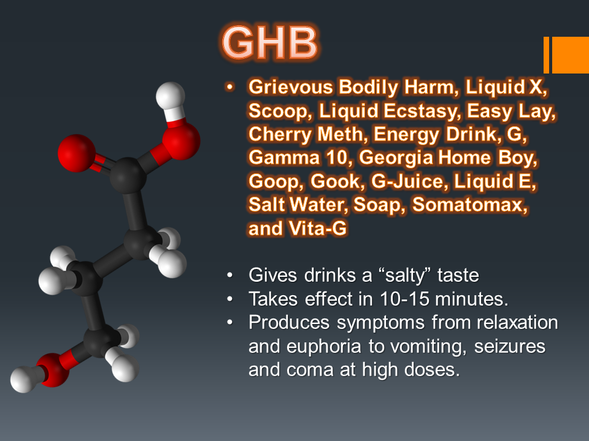 gamma hydroxybutyrate or ghb essay Gamma-hydroxybutyric acid  ghb is naturally produced in the human body's cells its chemical structure is similar to that of ketone body beta-hydroxybutyrate.